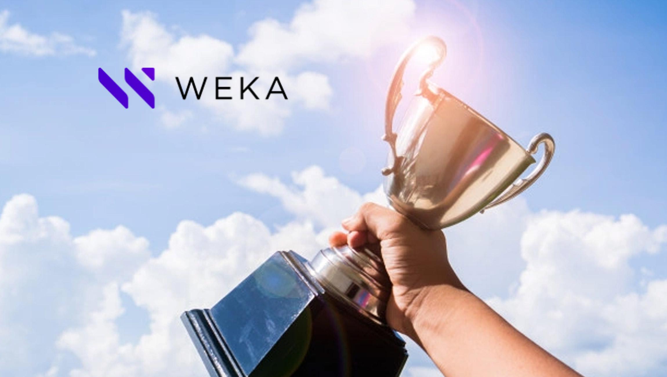 WekaIO Selected as a Winner in AI Breakthrough Awards